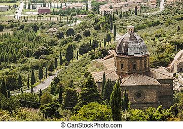 toskańczyk, krajobraz