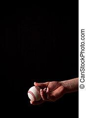 Tossing a Baseball