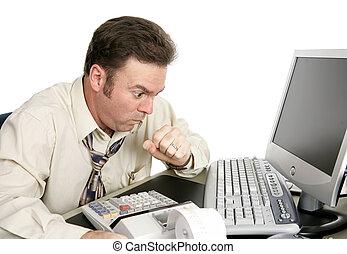 tossire, lavoro, o, soffocamento