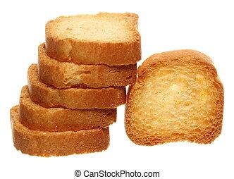 tostada, barra, alimento, dieta, galletas, rusks, bread