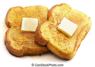 tostada, mantequilla, francés
