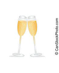 tostadas de champán