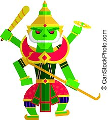 TosThai - Toosakan is a giant in the Ramayana of Thailand.