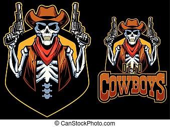 tot, maskottchen, cowboys