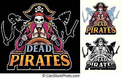 tot, piraten, maskottchen