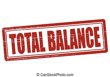 total, balance