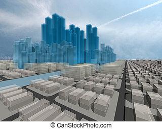 Total city - Computer generated 3d city model