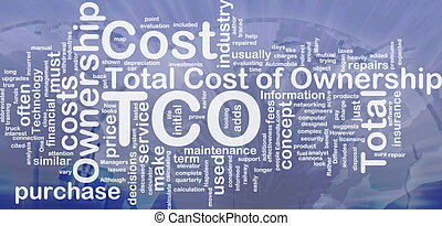 Total cost of ownership background concept - Background ...
