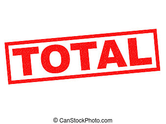 TOTAL red Rubber Stamp over a white background.