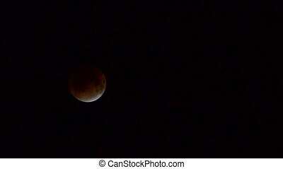 Total moon eclipse when the moon appears to be red