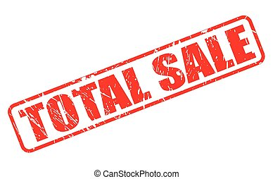 TOTAL SALE red stamp text