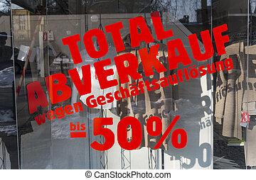 total sales - liquidation - total sales for liquidation. ...