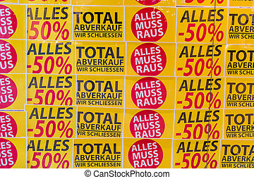 total sales - total sale in a shop. business is closed