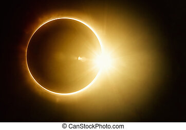Total solar eclipse - Amazing scientific background - total...