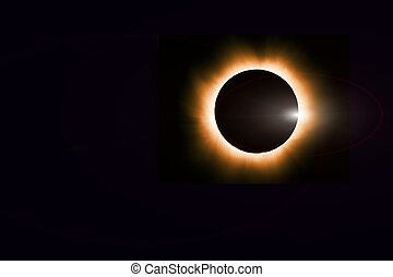 Total solar eclipse cosmic background