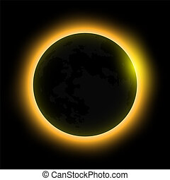 total solar eclipse, eclipse of the sun . Vector...