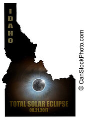 Total Solar Eclipse in Idaho Map Outline
