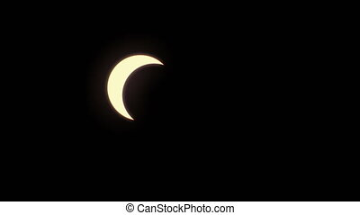 Total solar eclipse. Totality at 6 sec mark.