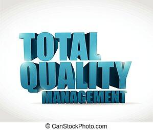 total, texte, gestion, qualité, illustration