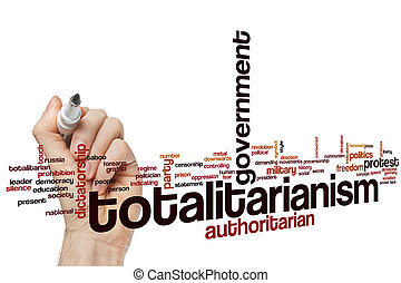 Totalitarianism word cloud