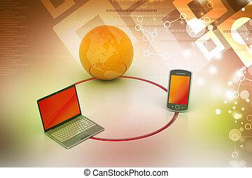 totalt meddelande, begrepp, nätverk, internet