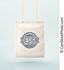 Tote Bag - Tote bag for design. Illustration contains...