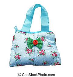 Tote handbag for women / studio photography of women's handbag - isolated on white background