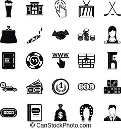 Tote icons set, simple style - Tote icons set. Simple set of...