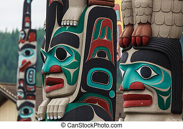 Totem pole at North America - Totem pole by North American...