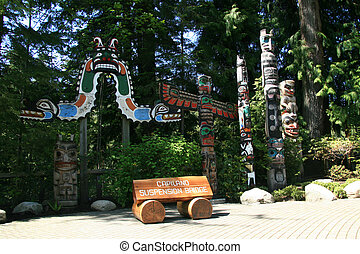 Totem Pole - Capilano Suspension Bridge, Vancouver, Canada