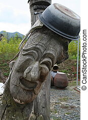Totem Poles II - Korean totem pole used to protect villages...