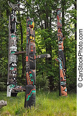 Totem Poles in Stanley Park