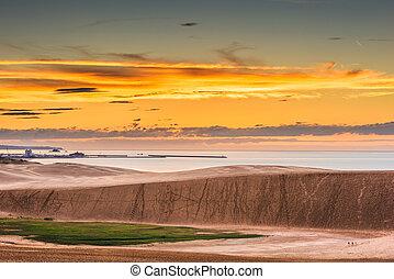 Tottori, Japan sand dunes on the Sea of Japan.