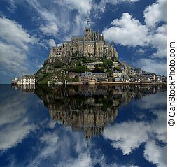 tou, meisten, mont, france--one, visited, saint-michel,...