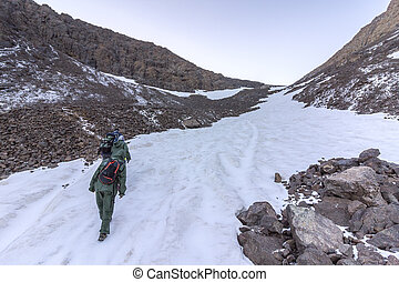 Toubkal national park, the peak whit 4,167m is the highest...