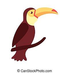 toucan bird flat style icon