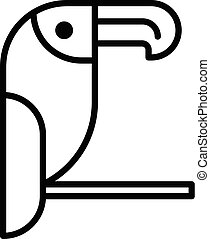 Toucan bird icon, outline style