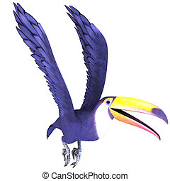 Toucan Bird In Flight