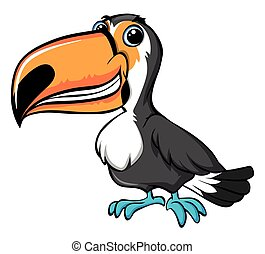 Toucan bird with happy face