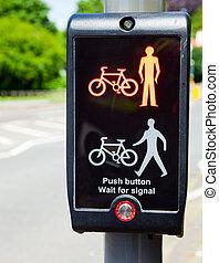 Toucan crossing green signal