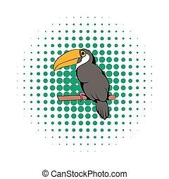 Toucan icon, comics style