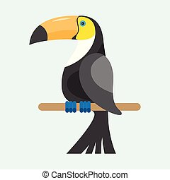 Toucan sitting on branch