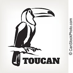 Toucan vector black icon logo illustration
