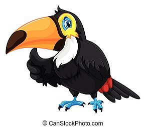 Toucan with happy face