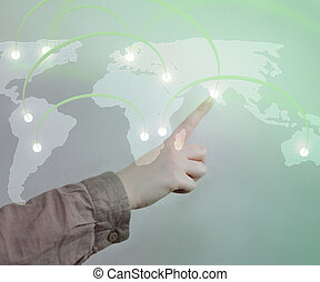 Touch a World Map