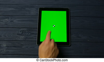 Touch and Slide Moves on Tablet Pc