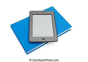 Touch e-reader with a real book - A touch e-reader with real...