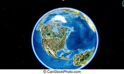 touch globe map on ipad,enlarged