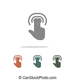 touch icon isolated on white background