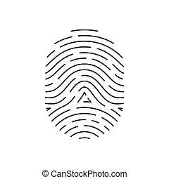Fingerprint - Touch Id Illustration. Fingerprint...
